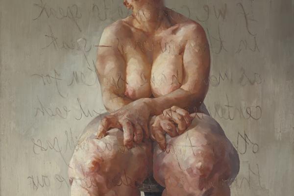 Jenny Savile. Propped