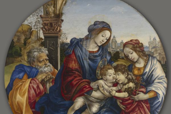 Filippino Lippi. Holy Family with the Baptist and Saint Margaret