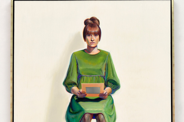 Wayne Thibaut. Green dress