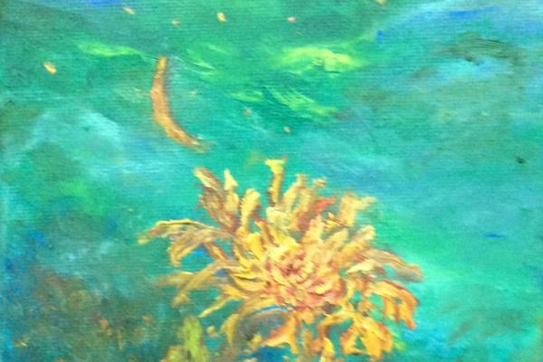 Рита Аркадьевна Бекман. Луна... Унесенный ветром лепесток хризантемы