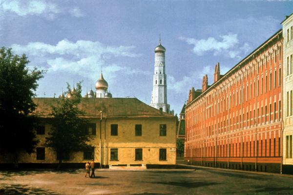 Vadim Vladimirovich Dementiev. View of the Kremlin from Bolotnaya Square