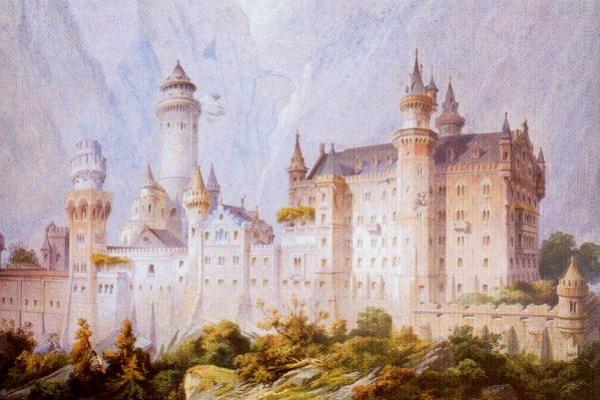 Christian junk. Neuschwanstein Castle. First project