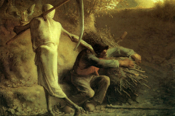 Jean-François Millet. Death and the woodcutter