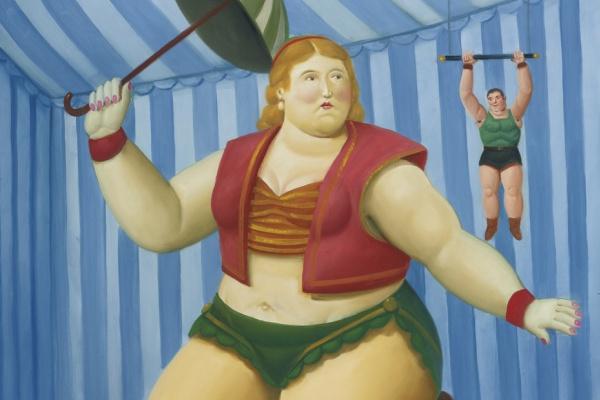 Fernando Botero. Ciclista