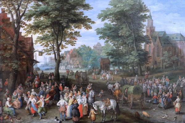 Jan Bruegel The Elder. Village scene