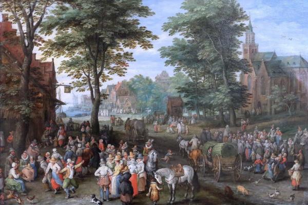 Jan Bruegel The Elder. Village scene