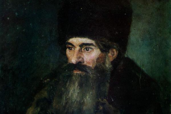 Vasily Ivanovich Surikov. The old man in the fur coat