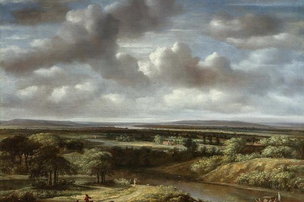 Филипс Конинк. Пейзаж с рекой