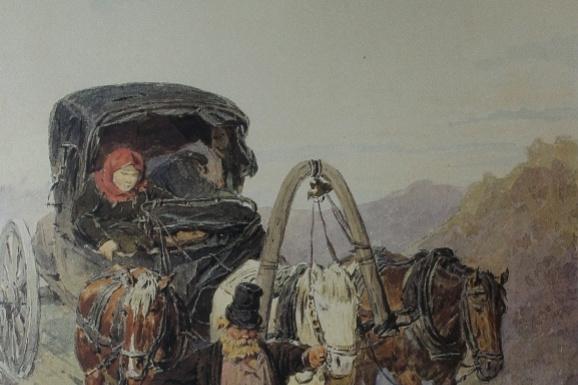 Петр Петрович Соколов. «Тройка» 1866  42,3х30,7