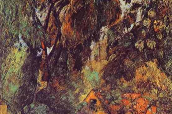 Paul Gauguin. Huts under Trees