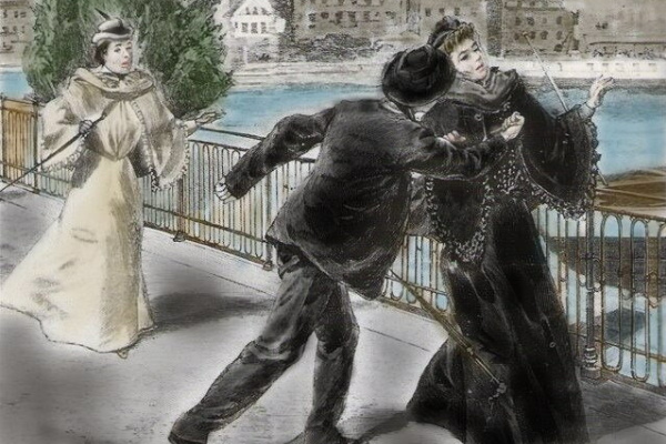 Joseph Christian Leyendecker. Anarchist Luigi Lukeni kills Elizabeth of Austria