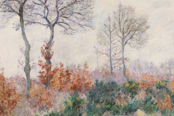 Blanche Oshede-Monet. The autumn trees (winter Effect)
