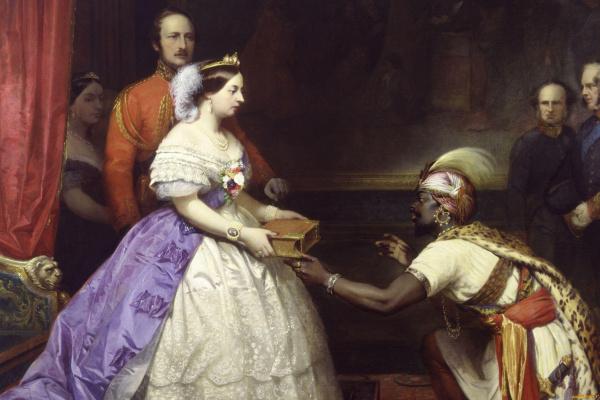 Томас Джонс Баркер. Секрет английского величия (Королева Виктория вручает Библию в зале для аудиенции в Виндзоре)