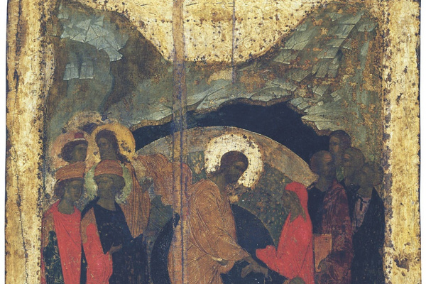 Andrey Rublev. Descent into hell from the festive rite