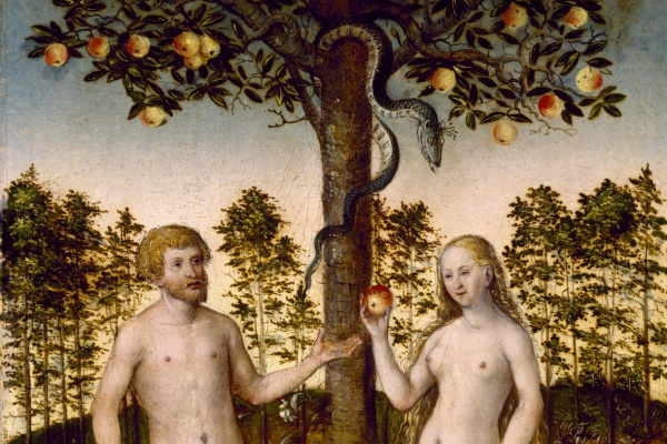 Lucas Cranach the Younger 1515-1586. The fall people. 1549