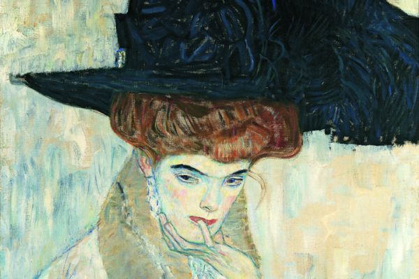 Gustav Klimt. Black hat with feather