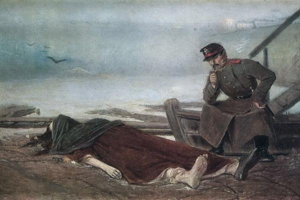 Vasily Grigorievich Perov. Drowned. Sketch