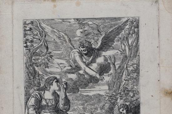 """Alexey Egorovich Egorovich. A sketch of """"Hagar in the desert"""""""