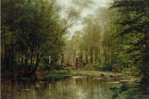Алексей Петрович Боголюбов. Лес в Вёле. Нормандия