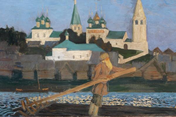 Борис Михайлович Кустодиев. На Волге