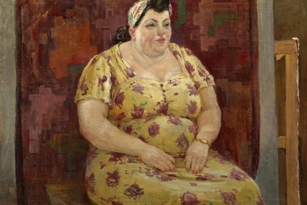 Александр Александрович Дейнека. Женщина в желтом платье