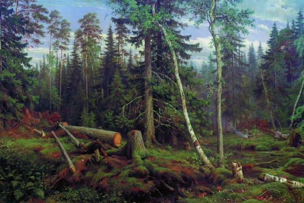 Иван Иванович Шишкин. Рубка леса