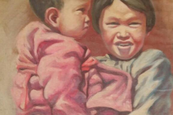Павел Данилович Воронкин. Китайская девочка с ребенком
