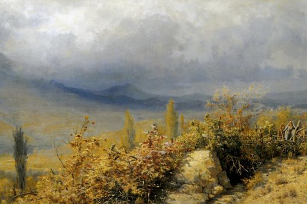 Григорий Григорьевич Мясоедов. Осенний вид в Крыму