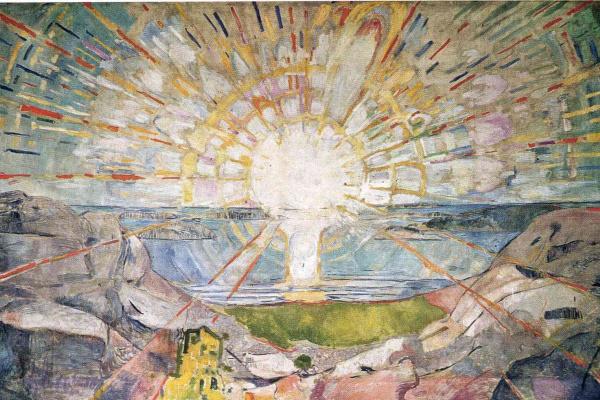 Edvard Munch. The sun