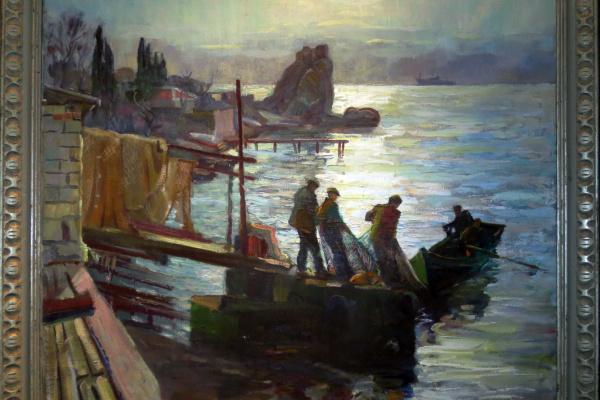 Михаил Андреевич Меренков. Fishermen