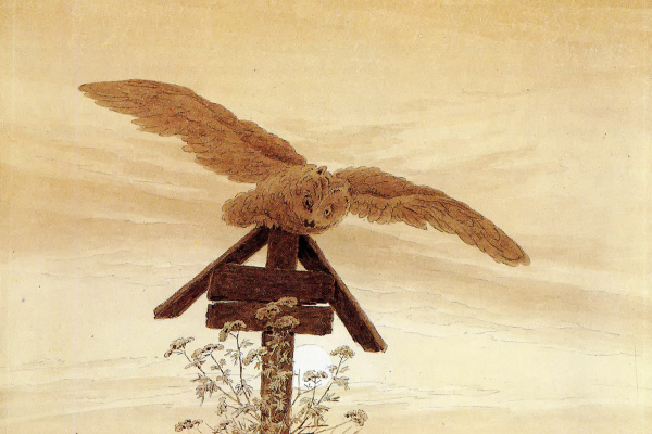 Caspar David Friedrich. Owl on a grave