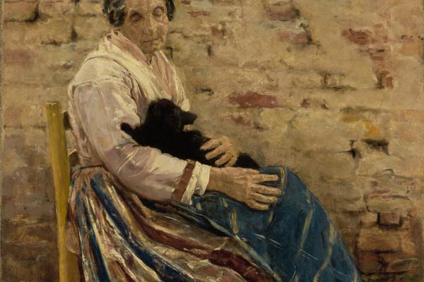 Макс Либерман. Старуха с котом