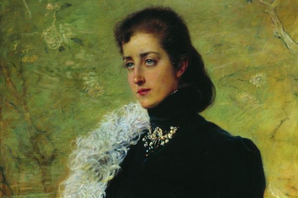 Konstantin Makovsky. Portrait of V.V. Bakhrushina, nee Nosovoy
