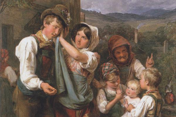 Фердинанд Георг Вальдмюллер. Возвращение фермера