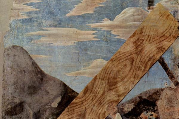 Piero della Francesca. Transfer of the Sacred Tree