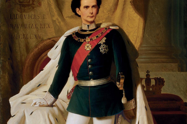 Ferdinand Von Pilots. Ludwig II of Bavaria in the coronation mantle