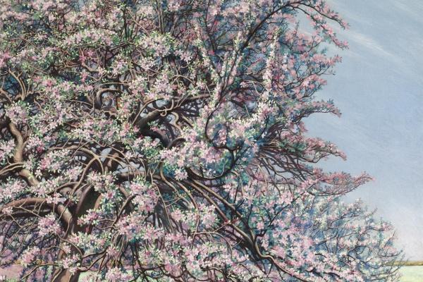Карлос Швабе. Цветущая яблоня.  1912