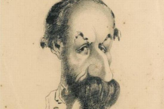 Клод Моне. Карикатура Филибер Аудебранд