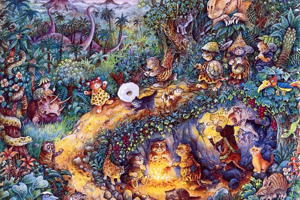 Билл Белл. Кошки и динозавр