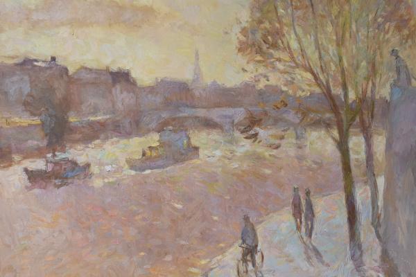 Georgiy Sergeevich Kara-Murza. Paris. Tuileries Quay