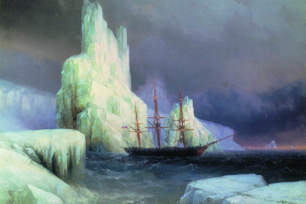 Ivan Aivazovsky. Ice mountains in Antarctica