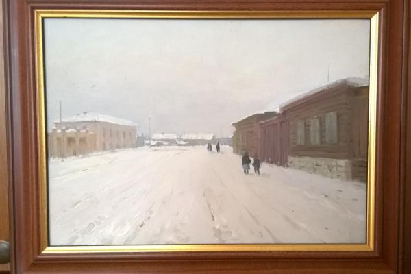 Николай Григорьевич Засыпкин. Закрытые ставни. Старый город