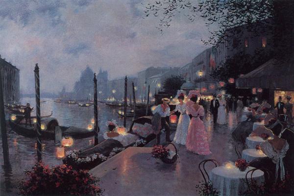 Криста Киффер. Ночной фестиваль в Венеции