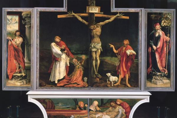 Matthias Grünewald. Sengeysky the altar. The crucifixion