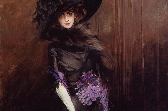 Джованни Больдини. Портрет маркизы Луизы Казати с борзой
