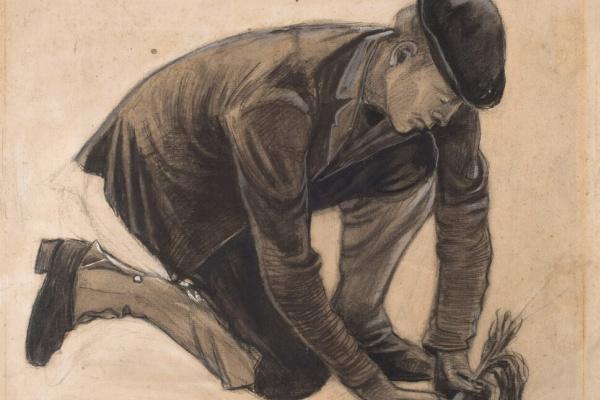 Винсент Ван Гог. Мужчина, сажающий растение