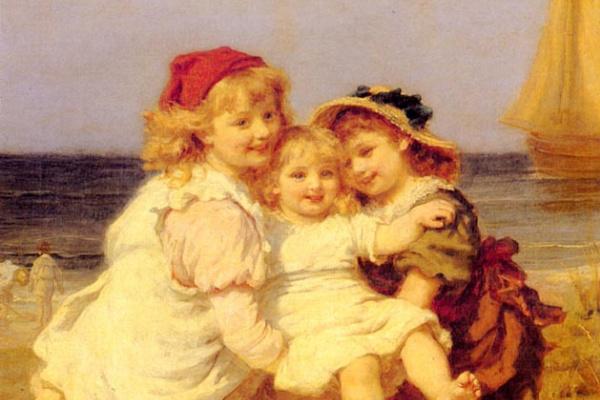 Фредерик Морган. Дети играют на пляже
