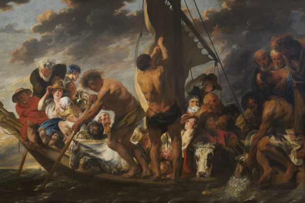 Jacob Jordaens. The Tribute Money. Peter Finding the Silver Coin in the Mouth of the Fish / The Ferry Boat to Antwerp