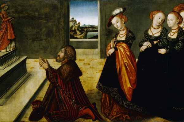 Лукас Кранах Младший 1515-1586. Идолопоклонство Соломона. ок.1537