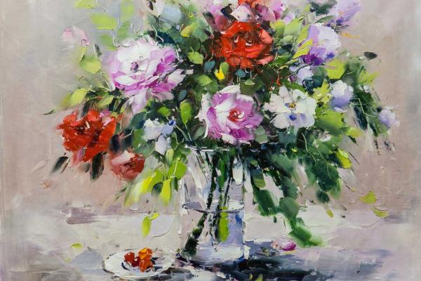 Мария Потапова. Букет роз